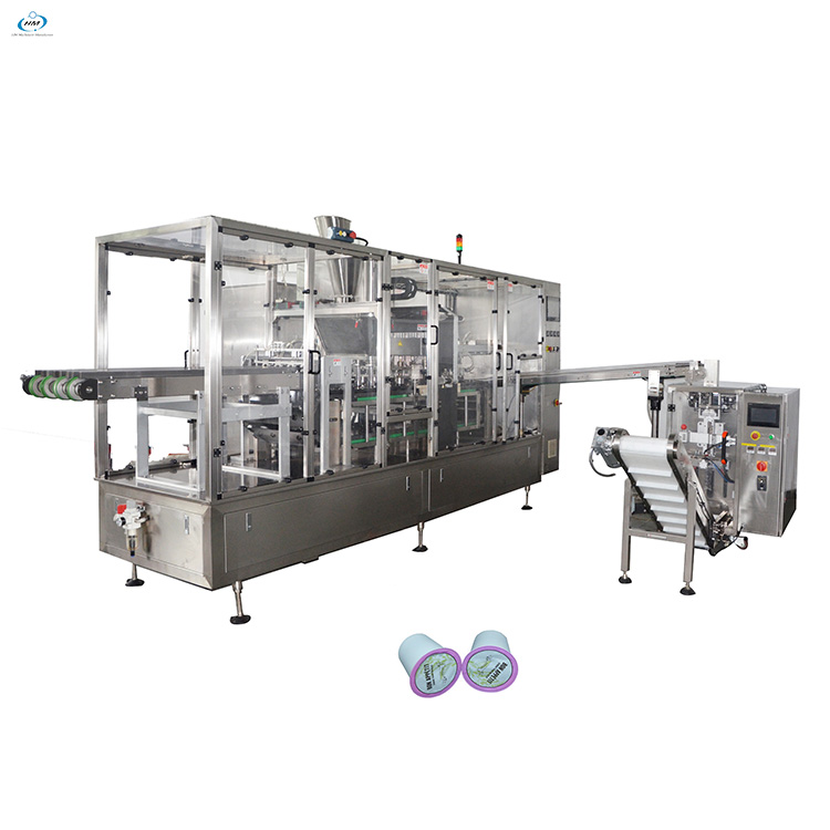 Wholesale k cup capsule filling machine carton production line for tea and coffee