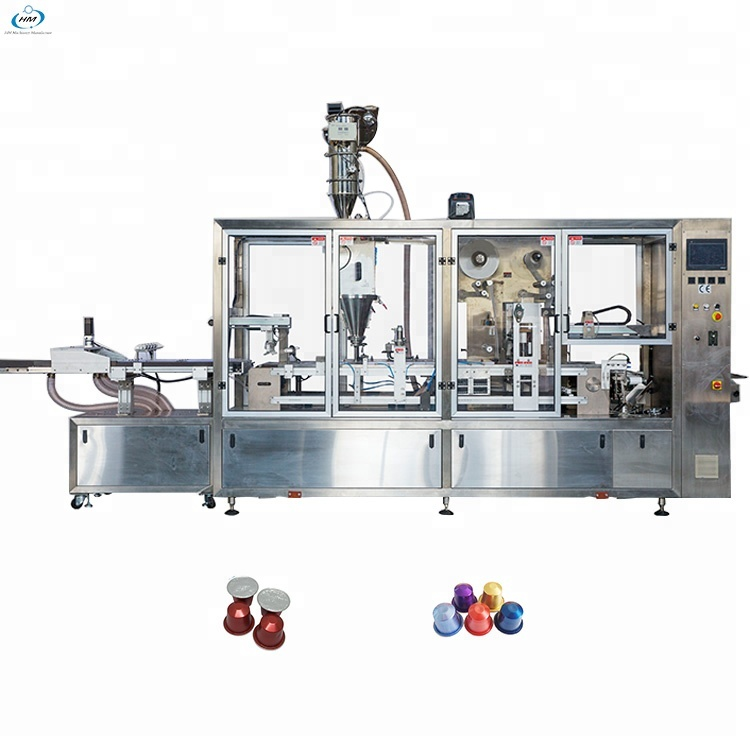 High Efficiency Full Automatic Nespresso Coffee Pod Capsule Filling Sealing Making Machine High Effi