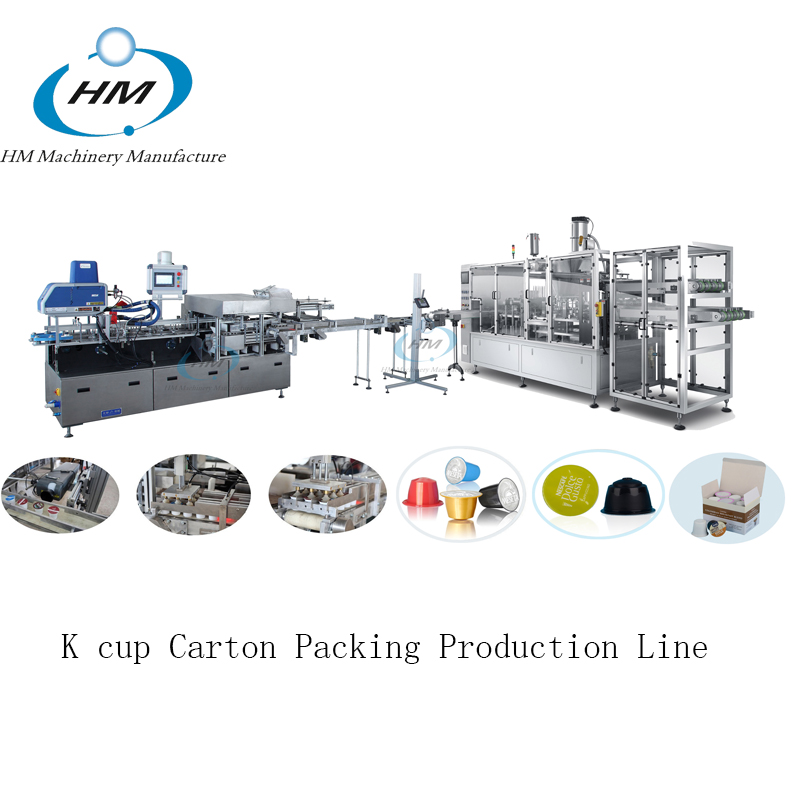 Kcup Capsule Carton Packing Production Line